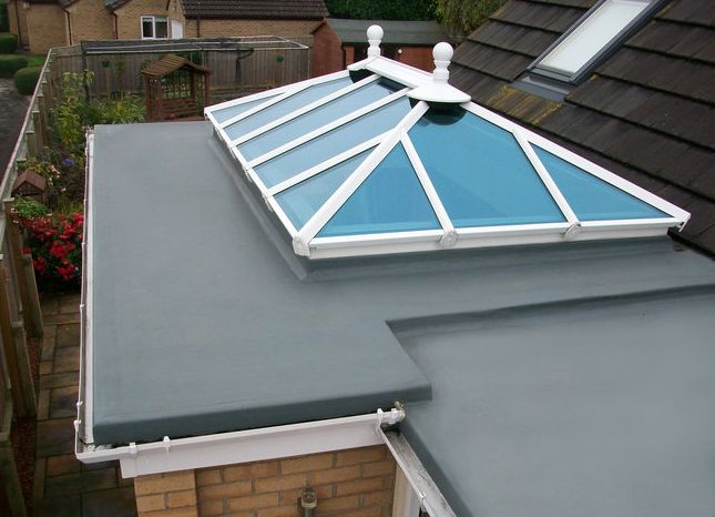 recent project for grp roofing west midlands